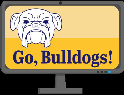 monitor with Go, Bulldogs to represent school website